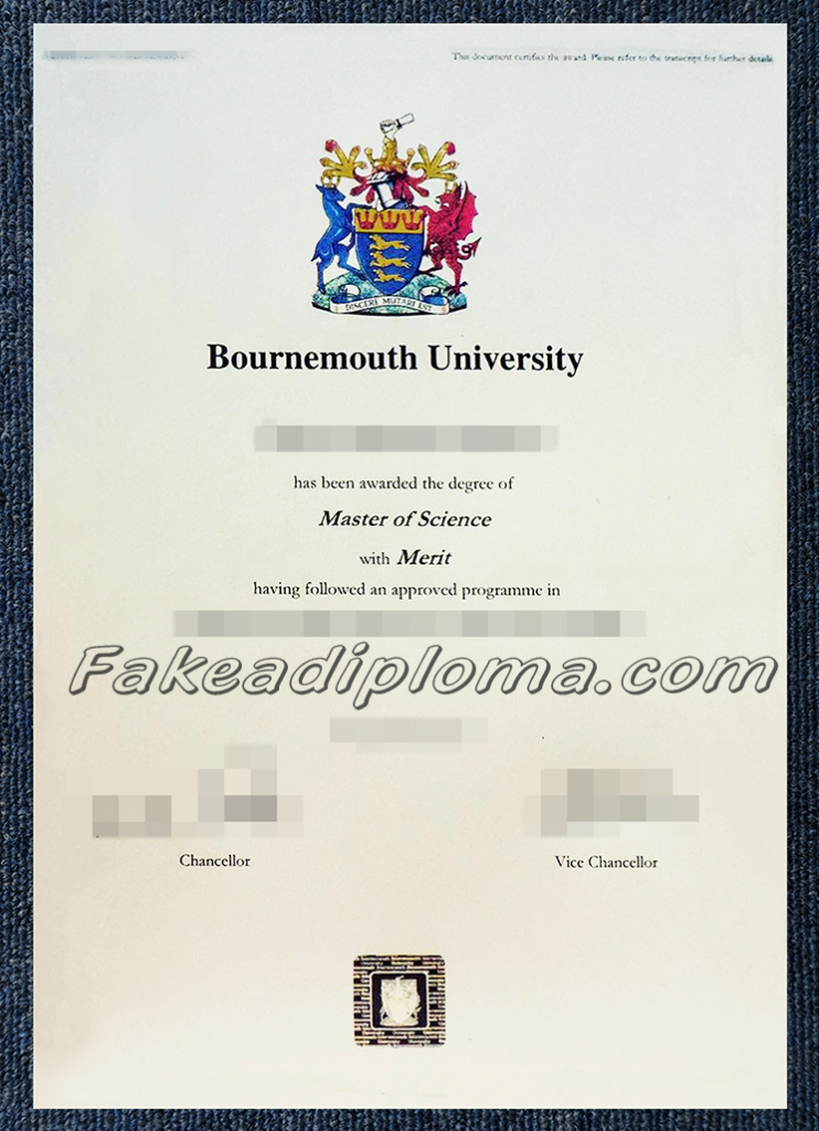 fake Bournemouth University  diplomas, fake BU University degree.
