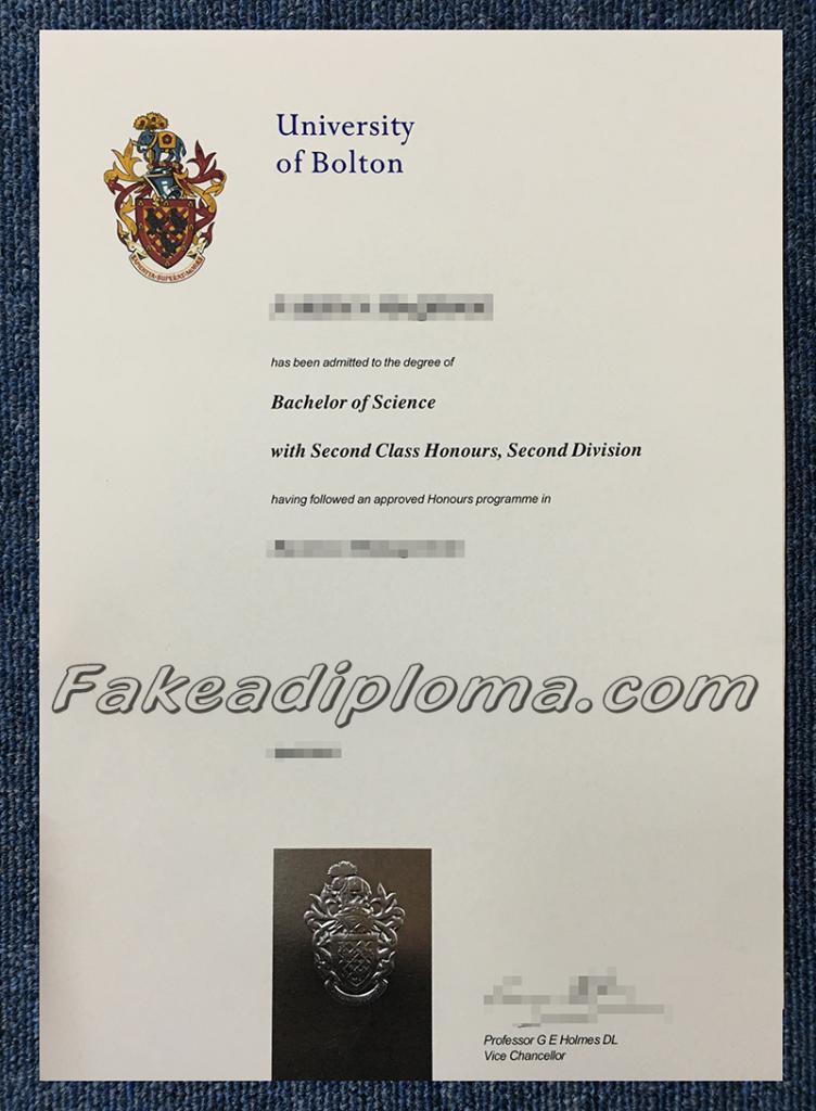 fake University of Bolton diplomas, fake UK University diplomas and transcripts.