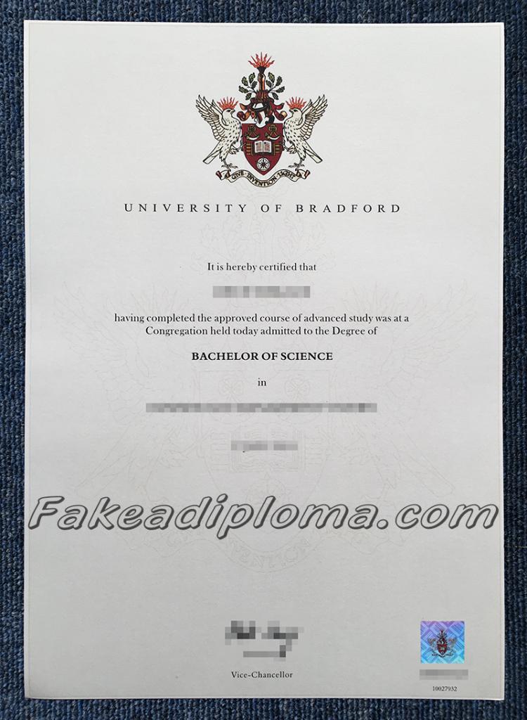 Fake University of Bradford Diplomas, fake UK University degrees.