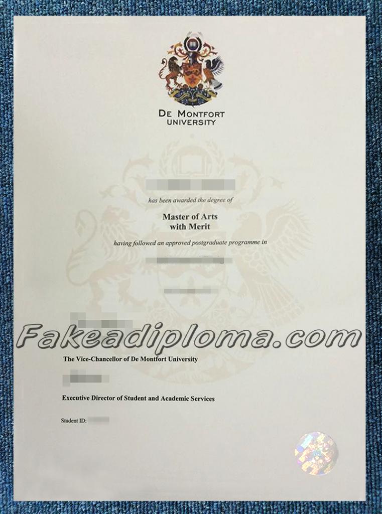 Fake De Montfort University Dragees, fake DMU diplomas, fake UK University diploma and transcript
