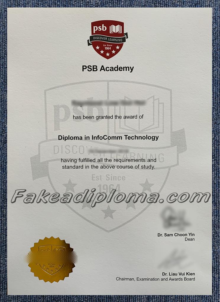 fake PSB Academy diplomas