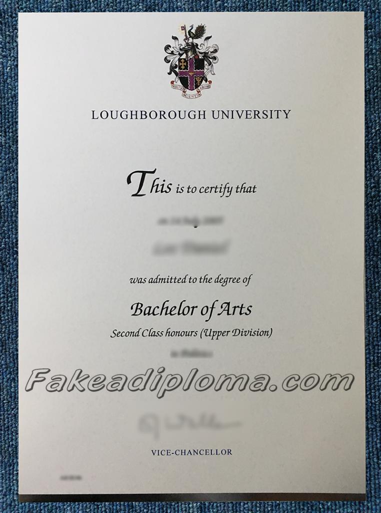 fake Loughborough University diploma certificate, fake LU degree certificate.
