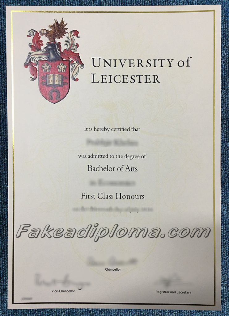 fake University of Leicester diploma certificates, fake UK University diploma and transcript.