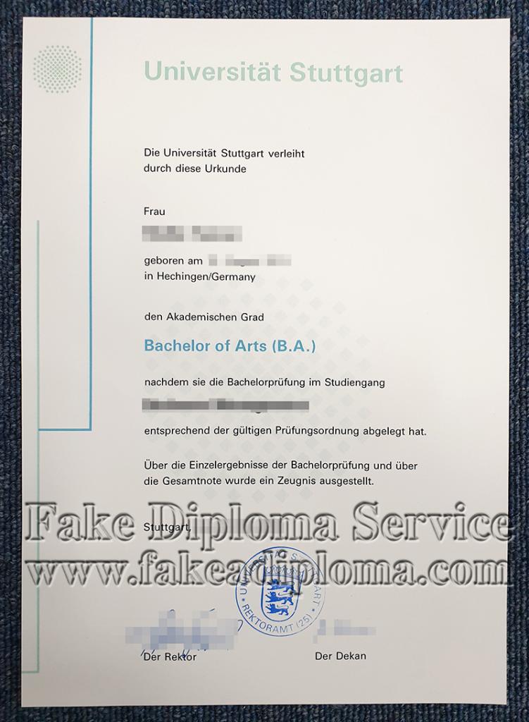 University of Stuttgart Diploma