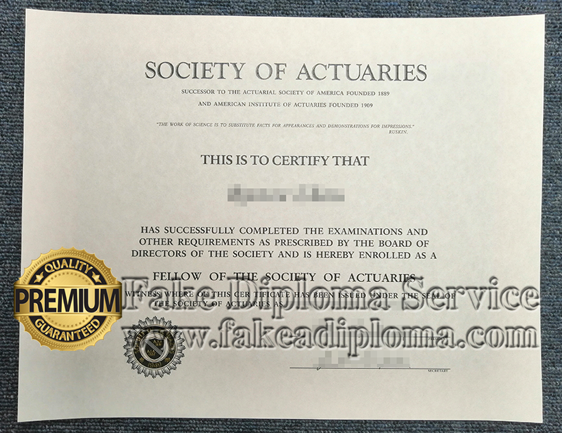 fake Society of Actuaries certificates, fake SOA certificates, fake SOA certificate.