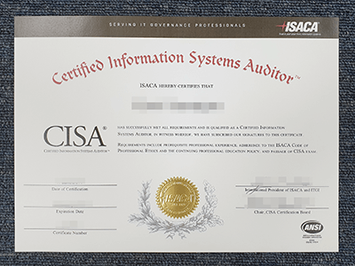 How To Get A Certified Information Systems Auditor Certificate? Buy Fake CISA Certificate