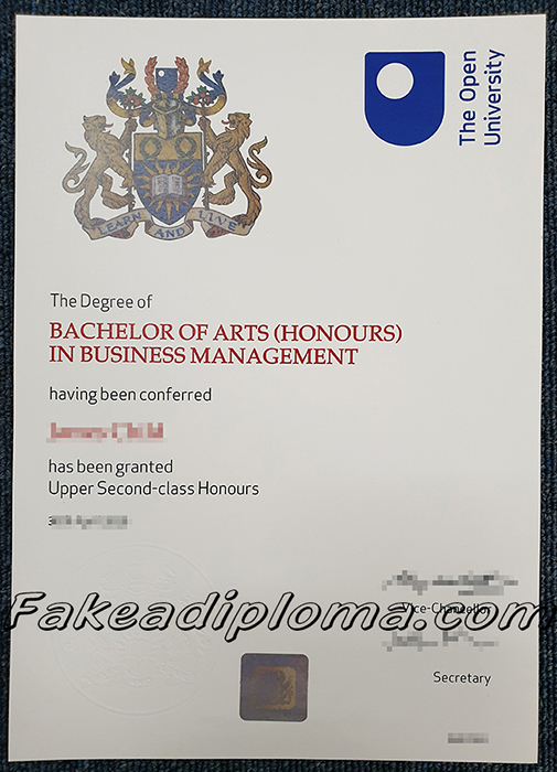fake Open University diploma, fake Open University degree.