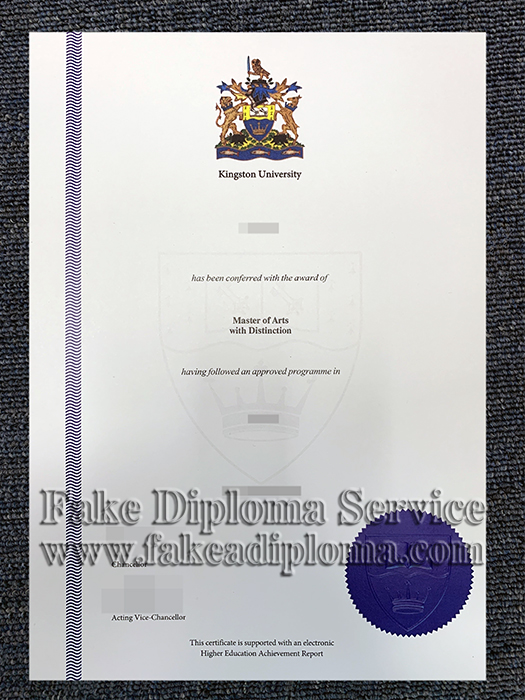 Fake Kingston University Diploma, Fake Master Degree.