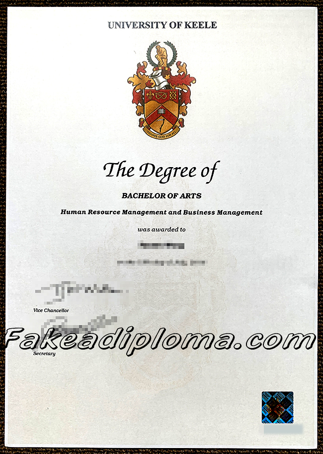 Fake University of Keele Diploma