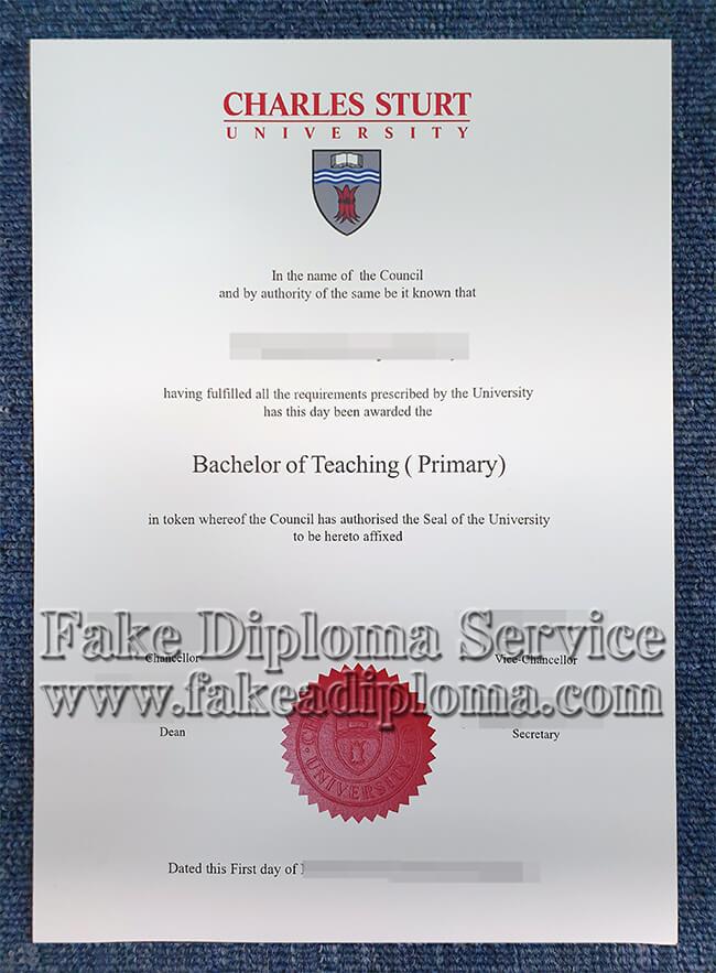 fake Charles Sturt University degree