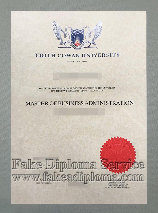Fake Edith Cowan University diploma,  fake Edith Cowan University degree certificate.