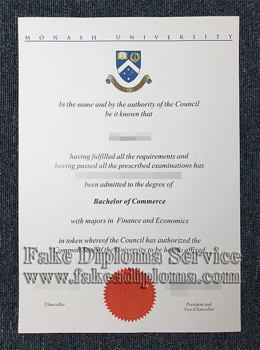 fake Monash University diploma, fake Monash University degree.