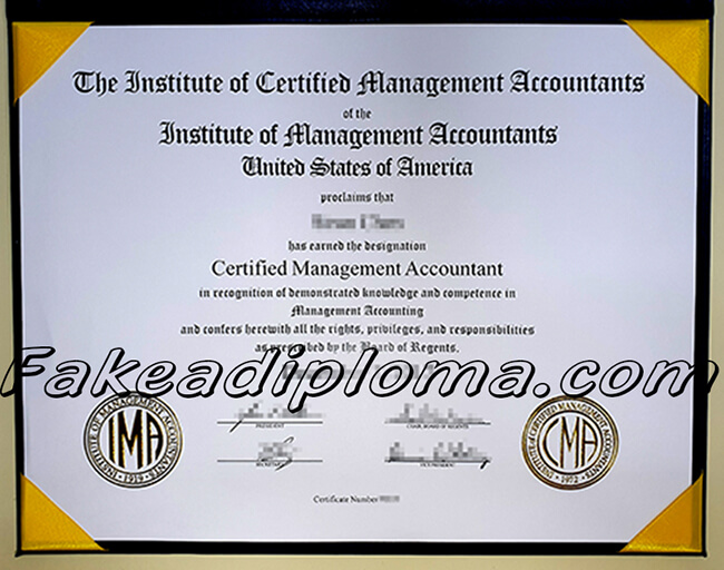 fake CAM certificate, fake Certified Management Accountant certificate.