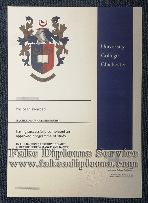 fake University College Chichester diploma, fake University College Chichester degree