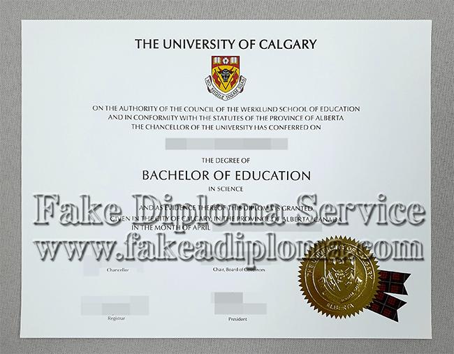 Fake University Of Calgary Degree