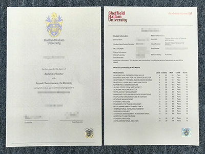 Get The Sheffield Hallam University Fake Diploma And Fake Transcript