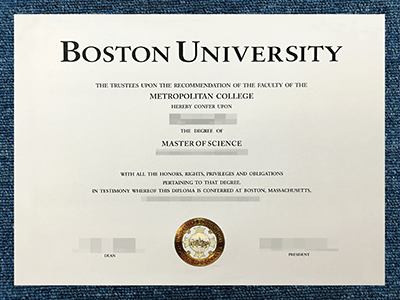 How Fast To Get A Fake Boston University Degree?