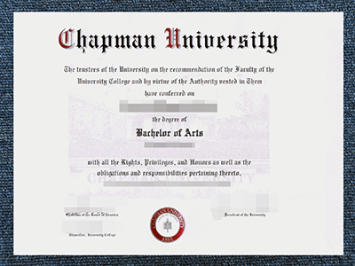 A Fake Chapman University Diploma, Same As The Original