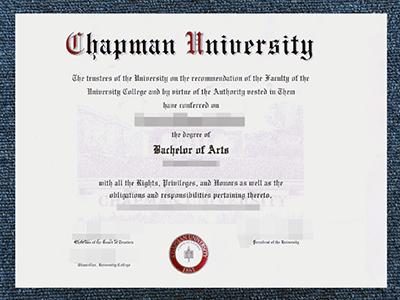A Fake Chapman University Diploma, Same As The Original