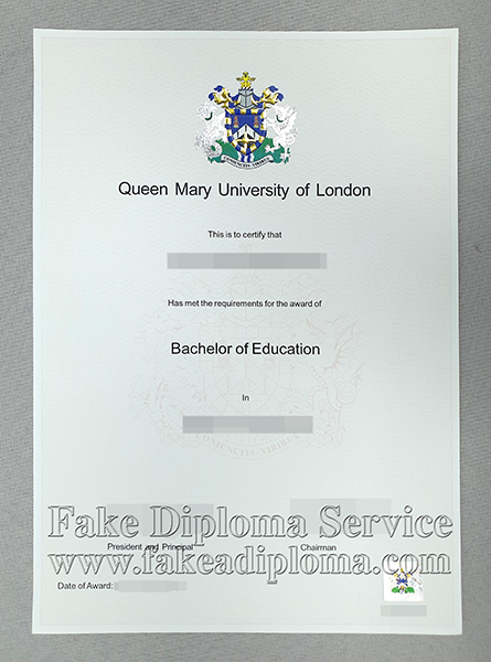 Fake Queen Mary University of London diploma, fake Queen Mary University of London degree.