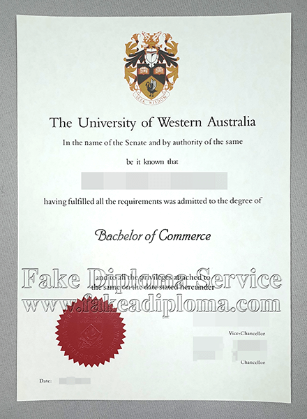 Fake University Of Western Australia(UWA) Degree