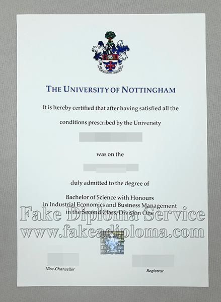 fake University of Nottingham degree, fake University of Nottingham diploma.