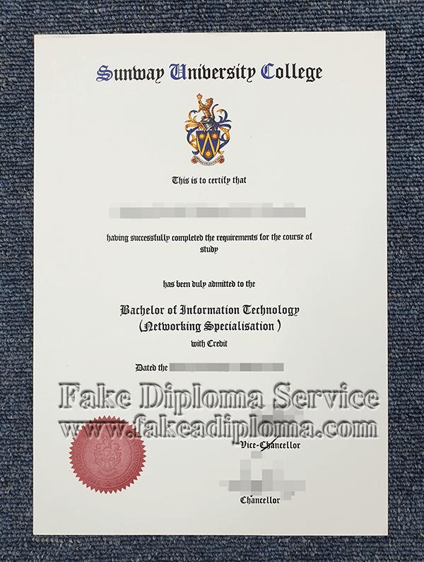 fake Sunway University diploma, fake Sunway University degree.