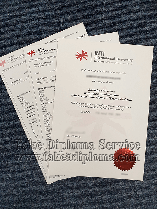 fake INTI International University Diploma, fake INTI International University degree.