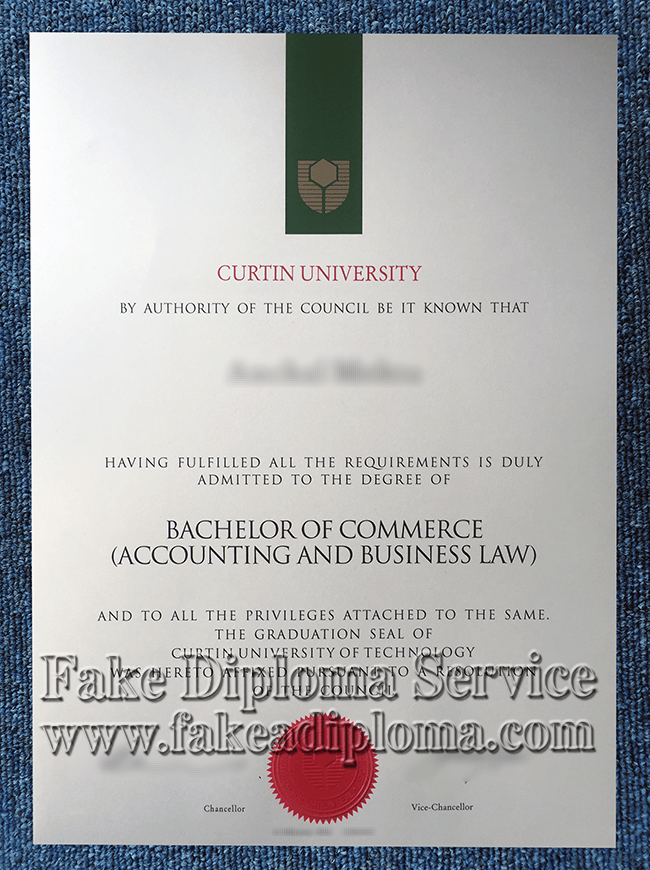fake Curtin University diploma, fake Curtin University degree.
