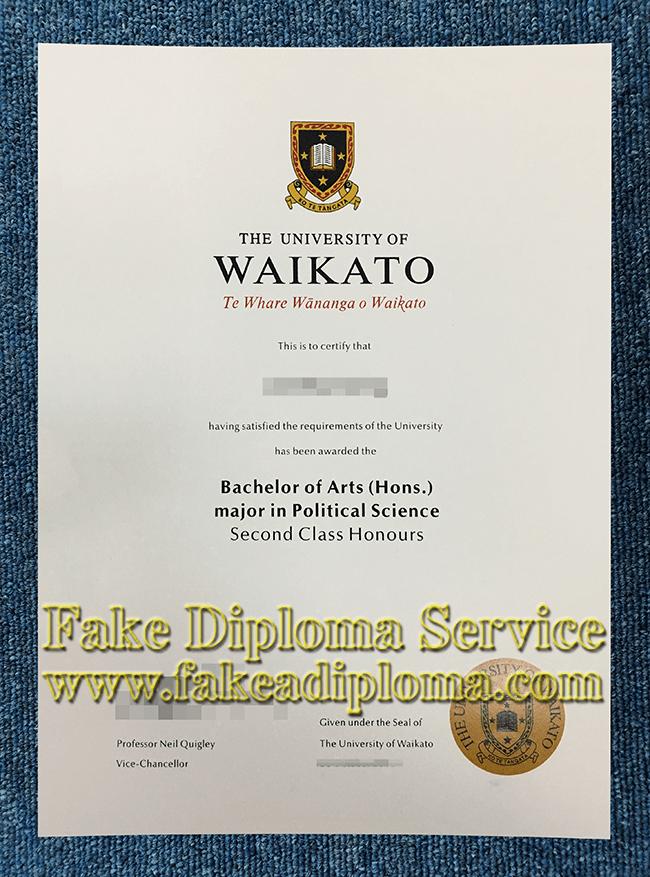 Fake University of Waikato Diploma, Fake University of Waikato Degree.