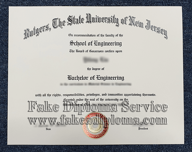 fake Rutgers University diploma, fake Rutgers degree