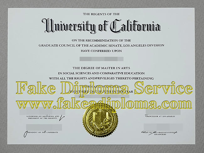fake UCLA Degree, Fake UCLA Diploma.