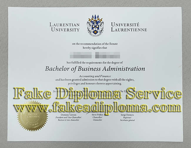 Fake Laurentian University Bachelor Degree, Fake Laurentian University Diploma