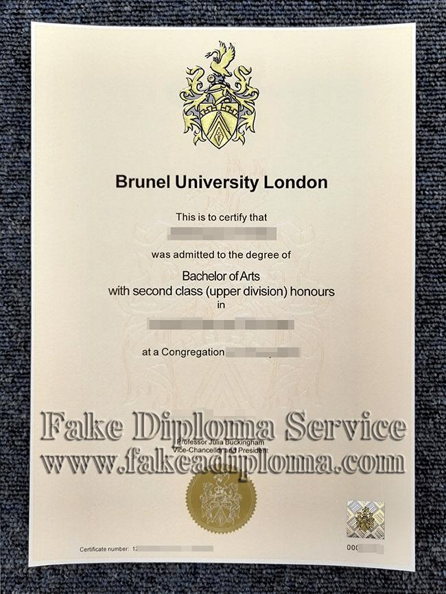 fake Brunel University London degree certificate, fake Brunel University London diploma.