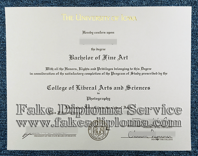 The University Of Iowa Fake Diploma