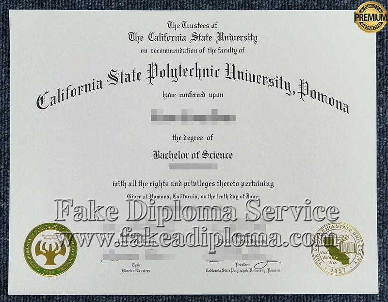 fake California State Polytechnic University-Pomona diploma