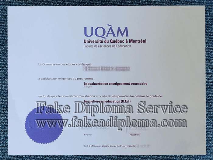 Fake University of Quebec Diploma, Fake University of Quebec Degree.