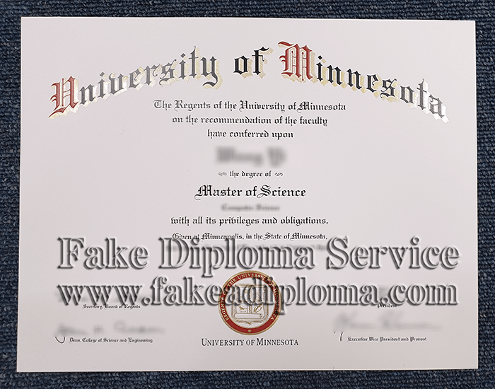 Fake UMN Diploma, fake University of Minnesota Degree.