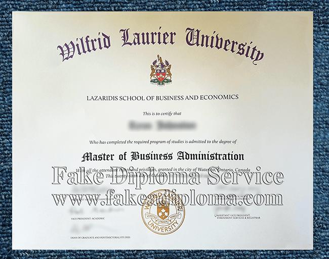 fake WLU diploma, fake Wilfrid Laurier University degree certificate.