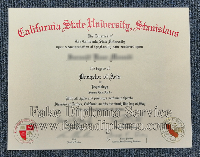 Fake California State University-Stanislaus diploma
