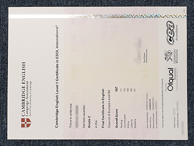 Cambridge English Level 1 Fake Certificate In ESOL International