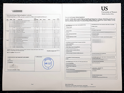 How To Get The Original Sussex Fake Transcript? Buy Fake University Of Sussex Transcript