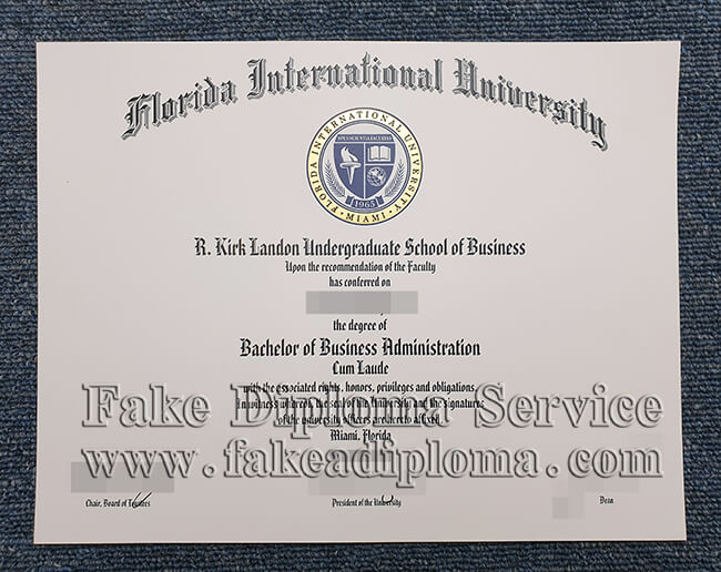 Florida International University fake degree, FIU fake diploma, USA University fake certificate.