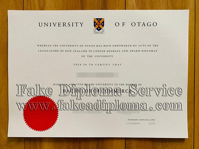 University of Otago fake diploma, New Zealand University fake degree, Dunedin University fake certificate.