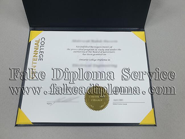 Fake Centennial College Diploma