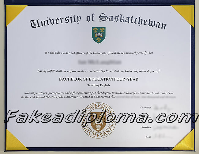 Fake University of Saskatchewan Diploma