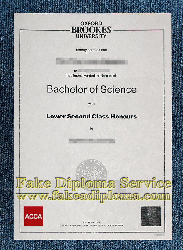 fake Oxford Brookes University degree, fake Oxford Brookes University diploma certificate.