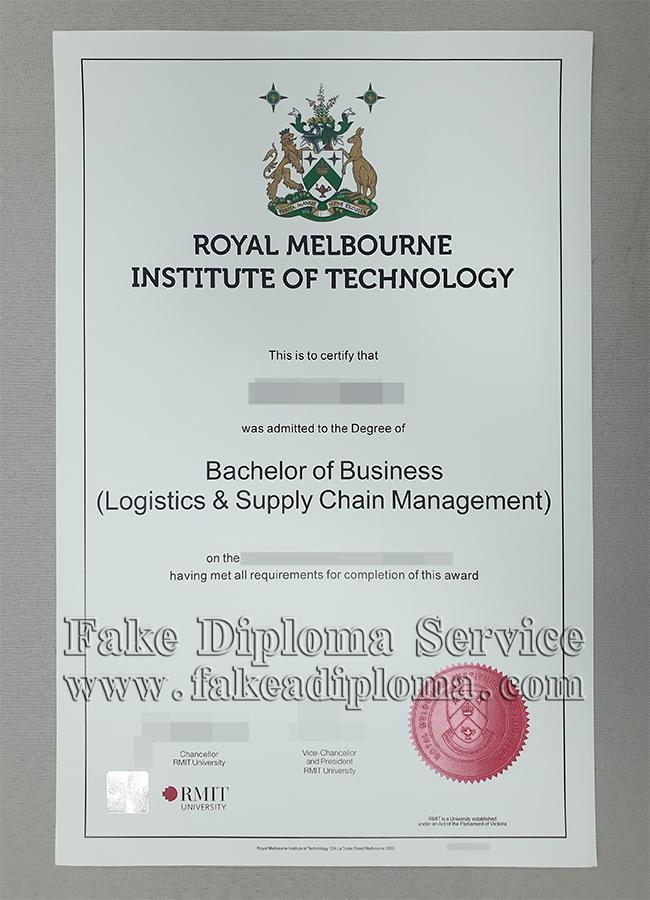 fake Royal Melbourne Institute of Technology University diploma, Fake RMIT University Degree.