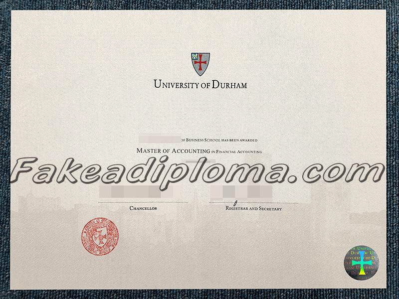 Fake University of Durham Diploma