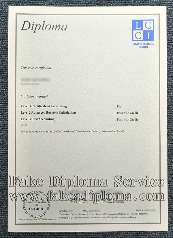 fake LCCI certificate,
